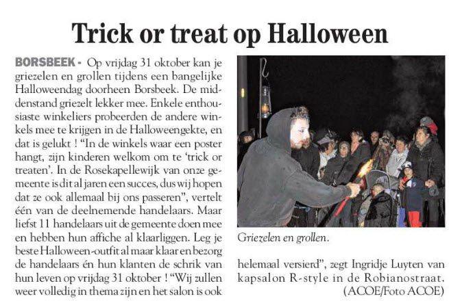 Binnenkort Halloween in Borsbeek, u komt toch ook ?